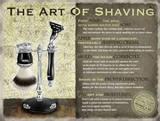 The Art of Shaving Tin Sign