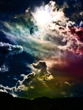 Rainbow Clouds Mars 2120 Photographic Print by  Exploding Art