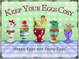 Keep Your Eggs Cosy Plaque en métal