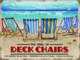 Deckchairs Tin Sign