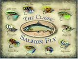 The Classic Salmon Fly Cartel de chapa