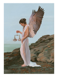 Justice Angel Reproduction procédé giclée par Carol Heyer