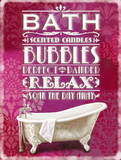 Bath-Bubbles-Relax Plaque en m&#233;tal