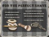For the Perfect Shave Tin Sign