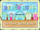 Beach huts Tin Sign