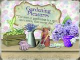 Gardening Pleasures Blikkskilt