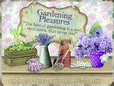 Gardening Pleasures Placa de lata