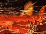 Red Hell Valley Mars 2120 Photographic Print by  Exploding Art