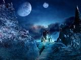 Midnight Castle Fotografisk tryk af  Exploding Art