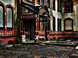 Abandoned Back Entry Photographic Print by  Exploding Art