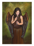 Flute Angel Giclee Print by Carol Heyer
