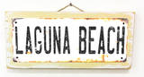 Laguna Beach Rusted Wood Sign