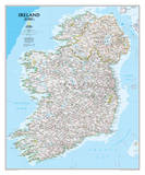 National Geographic - Ireland Classic Map Laminated Poster Prints by National Geographic