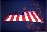 American Flag in Grand Central Station NYC Print