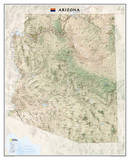National Geographic - Arizona Map Laminated Poster Print by National Geographic