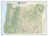National Geographic - Oregon Map Laminated Poster Posters by National Geographic