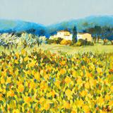 Lemon Grove, Tuscany Print by Hazel Barker