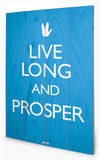 Star Trek-Live Long and Prosper Cartel de madera
