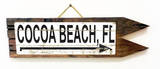 Cocoa Beach, FL Vintage Wood Sign