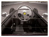 Ferrari F1 Vintage Quarter Mile  Cartel de madera