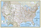National Geographic - United States Classic Map, Enlarged & Laminated Poster ポスター : ナショナルジオグラフィック