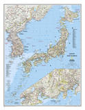 National Geographic - Japan & Korea Map Laminated Poster Print by National Geographic