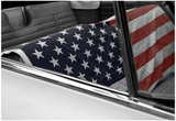 American Flag in Convertible Photo