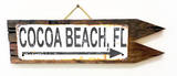 Cocoa Beach, FL Rusted Wood Sign