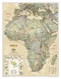 National Geographic - Africa Executive Map Laminated Poster Posters af Geographic, National