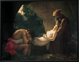 The Tomb of Atala, 1808 Framed Canvas Print by Anne-Louis Girodet de Roussy-Trioson
