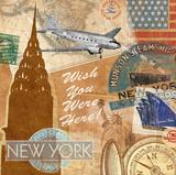 Tom Frazier - Destination, New York Umělecké plakáty