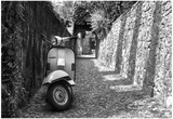 Vespa In Alley Amalfi, Italy Prints