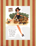 Diet Quote - Totie Fields Poster