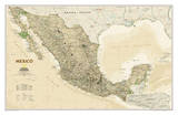 National Geographic - Mexico Executive Map Laminated Poster Posters av Geographic, National