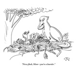 """News flash, Mom—you're a hoarder."" - New Yorker Cartoon Premium Giclee Print by Farley Katz"