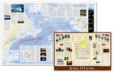 National Geographic - Titanic Map, Two-Sided Poster Posters by National Geographic