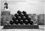 Cannonballs at El Morro San Juan Puerto Rico Poster