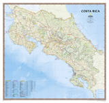 National Geographic - Costa Rica Map Laminated Poster Posters by National Geographic