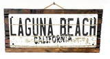 Laguna Beach California Vintage Wood Sign