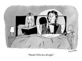 """Thanks! I'll be here all night."" - New Yorker Cartoon Premium Giclee Print by Andy Friedman"