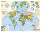 National Geographic - Kids Beginners World Education Map (Grades K-3) Giant Poster Plakater af National Geographic