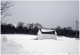 Snowy Scene in Sag Harbor NY b/w Prints