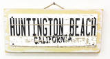 Huntington Beach California Vintage Wood Sign