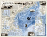 National Geographic - Shipwrecks of the Northeast Map Laminated Poster Kunstdrucke von National Geographic