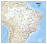 National Geographic - Brazil Classic Map Laminated Poster Photo by National Geographic