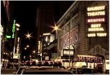 Theater District Broadway NYC Print