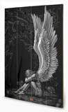 Spiral Ensalved Angel Znak drewniany