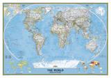 National Geographic - World Classic Map Laminated Poster Kunstdruck von National Geographic