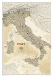 National Geographic - Italy Executive Map Laminated Poster Prints by National Geographic