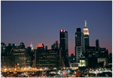 West-side Skyline at Night NYC Prints